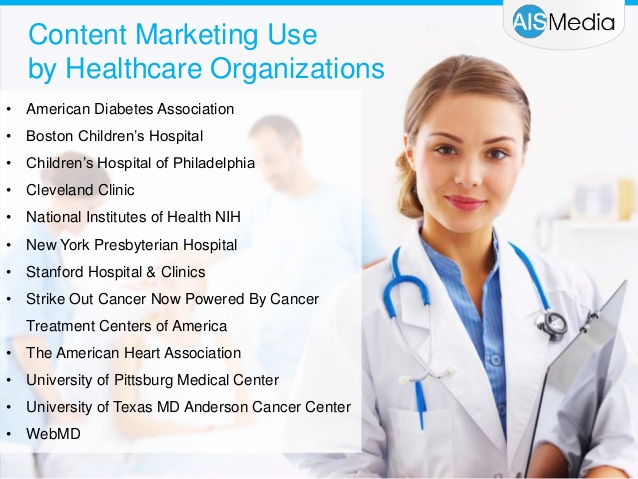 content marketing use by healthcare companies