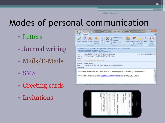 personal communication for medical device marketing