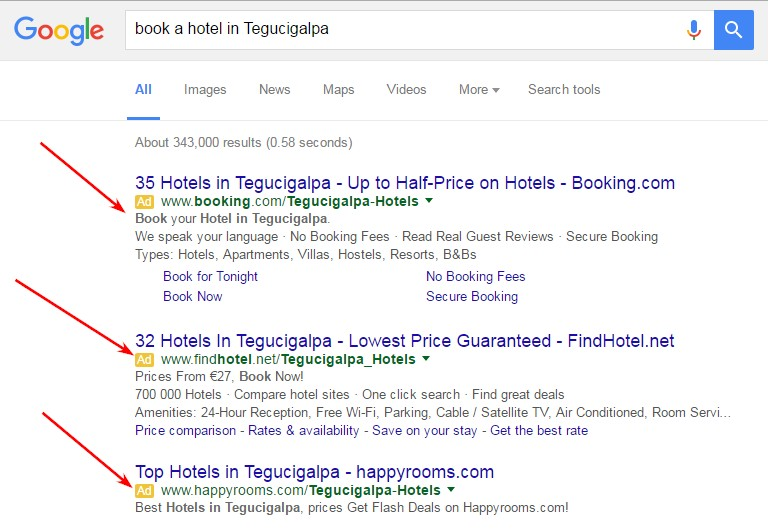 paid ads for hospitality and hotels