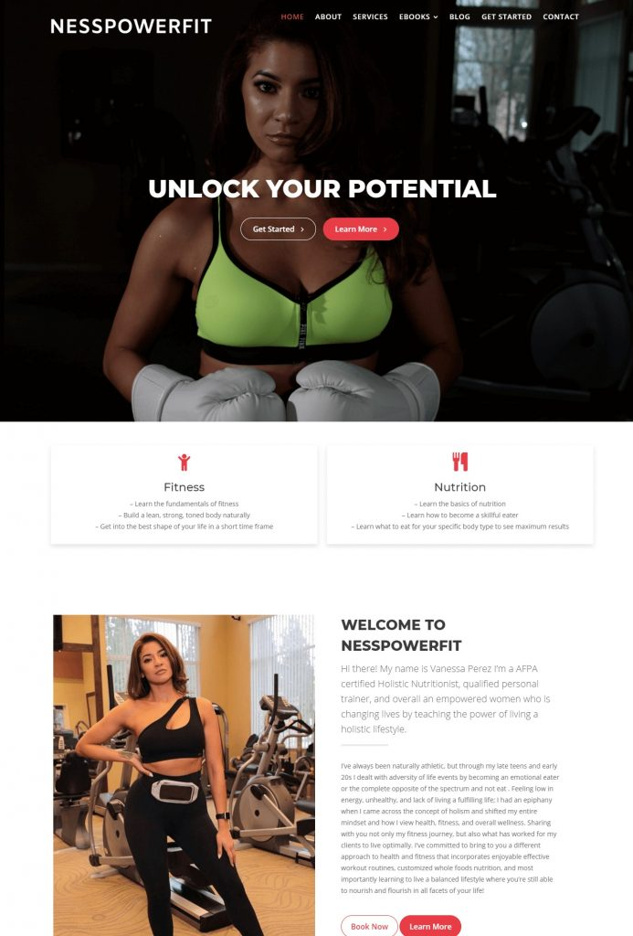 nesspowerfit website design (2
