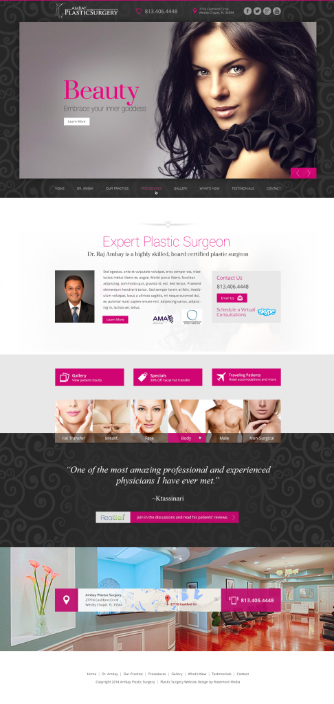Dr Ambay Plastic surgery website design