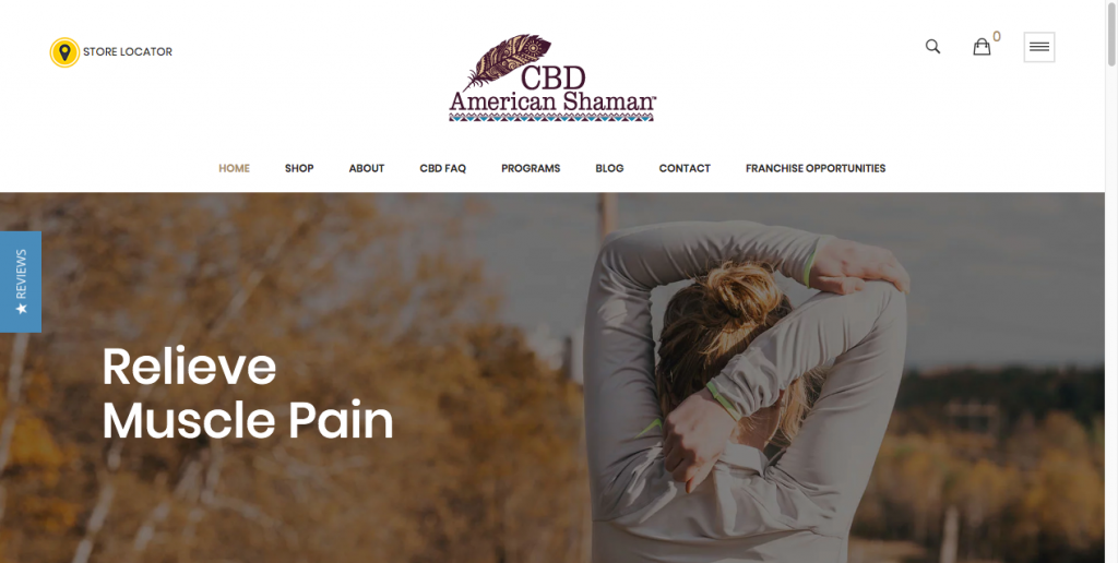 cbd american shaman website design