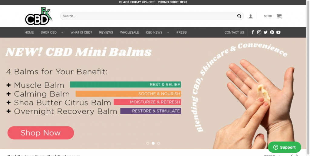cbdfx website design