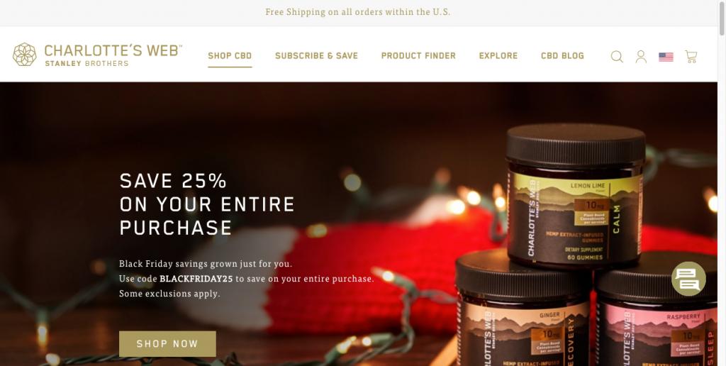 charlottes web cbd website design