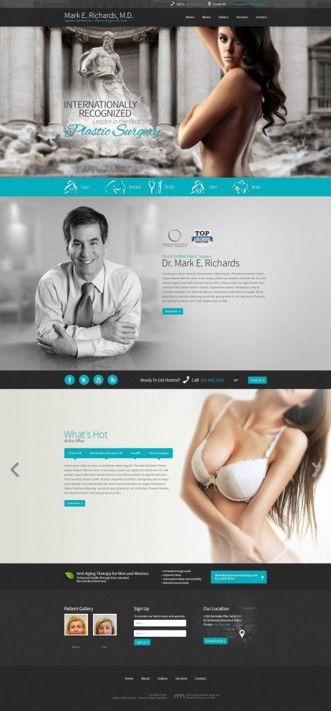 dr mark richards plastic surgery website design