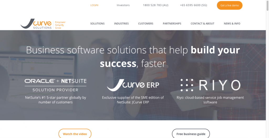 jcurve solutions b2b website design