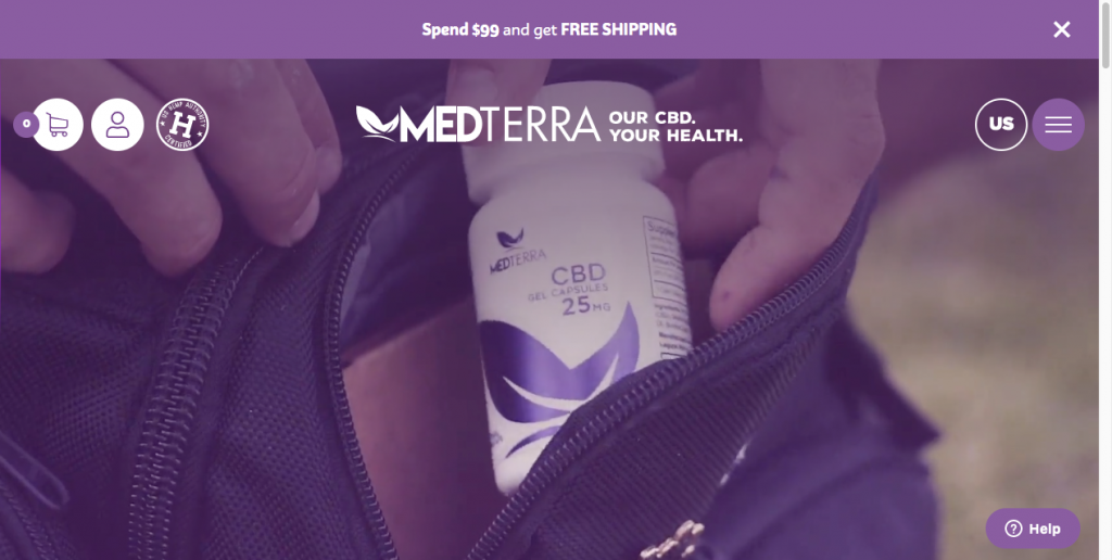medterra cbd website design