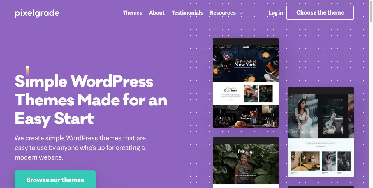 pixelgrade b2b website design