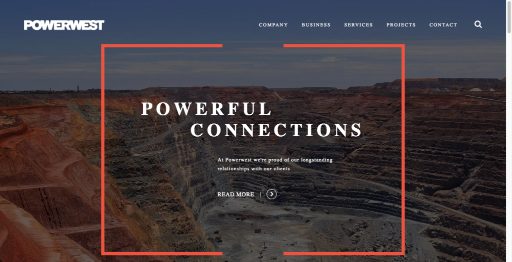 powerwest b2b website design