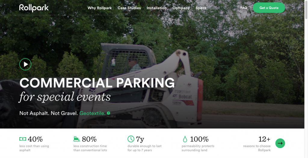 rollpark b2b website design