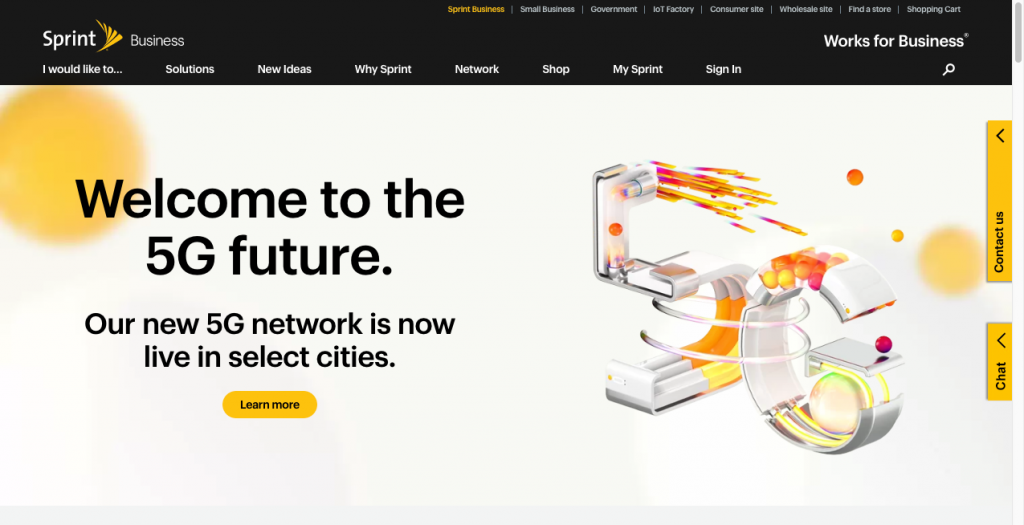 sprint b2b website design