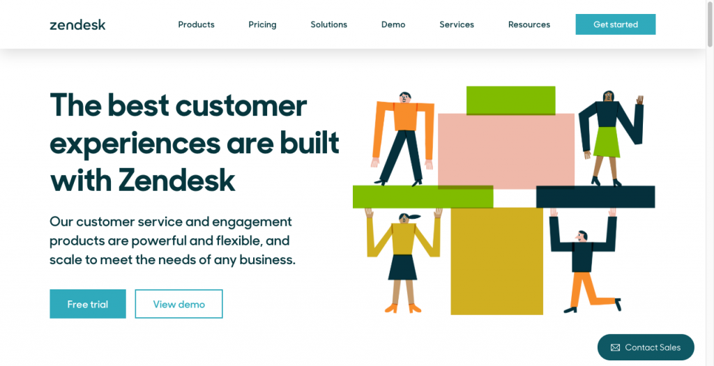 zendesk b2b website design
