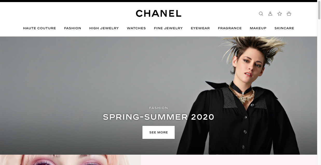 chanel website design luxury brand marketing